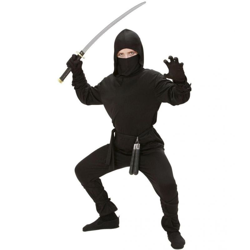 ad74288f0cd6 Widmann 02646 - Kostým Ninja čierny 128 S