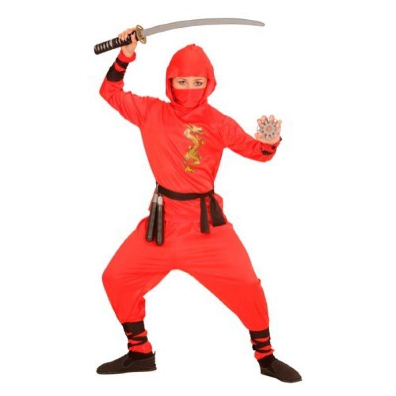 b8343e2468ea Widmann 01338 - Kostým Ninja červený 158 L