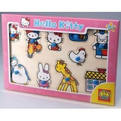 SES Creative 05066 - Drevené puzzle Hello Kitty 10 ks