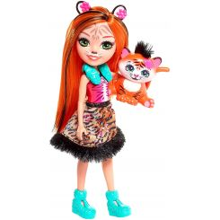 Mattel FNH22-FRH39 Enchantimals bábika Tanzie Tiger a Tuft