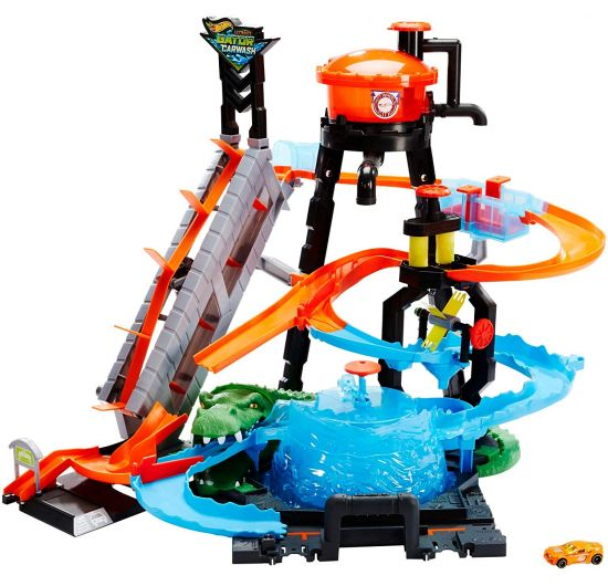 Hot Wheels City ultimátna autoumývačka s aligátorom