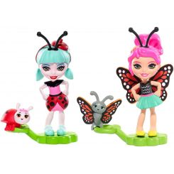 Mattel Enchantimals Chrobáčiky Ladelia Ladybug a Vine s Butterfly a Wingrid