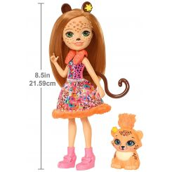 Mattel FNH22-FJJ20 Enchantimals bábika Cherish Cheetah a leopard Quick-Quick