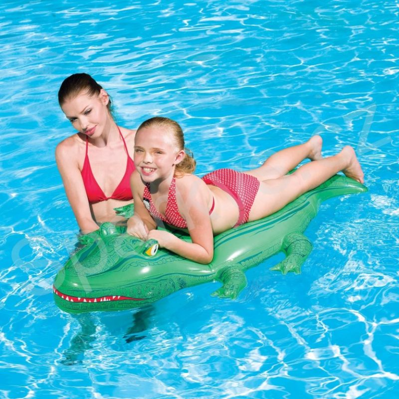 d2206748b Bestway 41010 Nafukovací krokodíl s držadlami 168 x 89 cm | Značkové ...