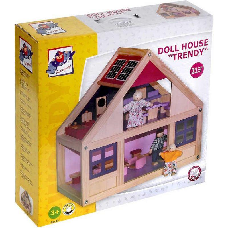 f7a55139712b0 Woody 91322 drevený domček pre bábiky s príslušenstvom Trendy ...