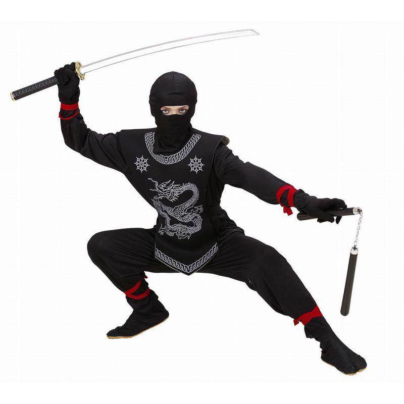 6448d12c1a95 Widmann 74528 - Kostým Ninja čierny s hadom 158 L